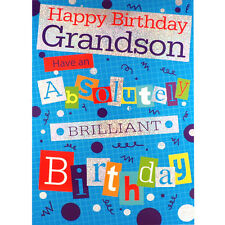 GRANDSON Birthday CARD ~ Happy Birthday Grandson ~ Lovely GREETINGS Card