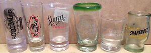 Liquor Brands ADVERTISEMENT Assortment 6 SHOT GLASSES Glass Glassware Jiggers