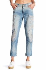 Miss Me Embroidered Boyfriend Ankle Jeans Size 29 Orig $109 **