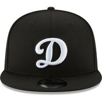 Los Angeles Dodgers Alternate Logo D New Era 9Fifty Snapback Hat Cap-Blk/Wht