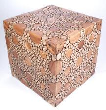 Design-Hocker, Tisch aus Teak-Wurzelholz/Ast-Scheiben, ca. 50x50x50cm