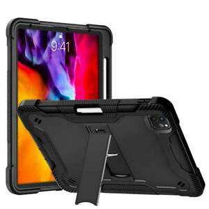 For iPad Pro 11 Air 4 10.9 2020 Case Cover Silicone Rugged Stand Shockproof Safe