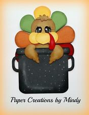 CRAFTECAFE MINDY THANKSGIVING TURKEY premade paper piecing for scrapbook page