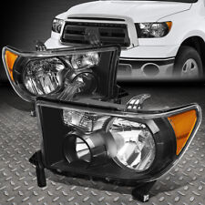 FOR 07-13 TOYOTA TUNDRA 08-17 SEQUOIA BLACK HOUSING AMBER CORNER HEADLIGHT LAMP