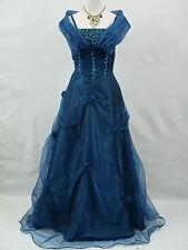 Cherlone Blau Hochzeit Ballkleid Brautkleid Abendkleid Brautjungfer Kleid 44