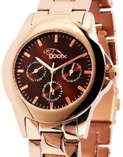 Damen Armbanduhr Braun/Rosegold Edelstahlarmband GX08007672 von gooix 149,90 UVP