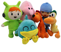 6pcs Bandai Pocoyo Elly Pato Loula Soft Plush Stuffed Figure Toy Doll Set