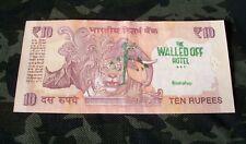 "véritable billet de banque indien tamponné ""Walled off hotel"" banksy  street art"