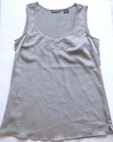 Eddie Bauer Women's Silver Gray Cami Tank Top Shirt Sheer Blouse Size X-Small XS
