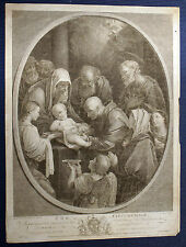 BESCHNEIDUNG CHRISTI Circumcision of Christ grosser Kupferstich 1765 - Original!