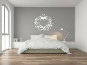 WALL ART LOVE HEART SHAPE DESIGN  STICKERS / DECALS FAMILY WORDS  HOME DECOR