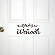 Welcome Vinyl Wall Decals Home Door DIY Decor Wall Removable Sticker Art Mural