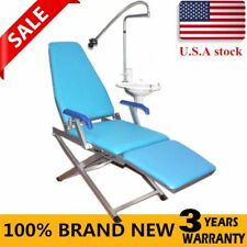 Dental Portable Folding Chair Water Supply System Led Light Plastic Spittoon