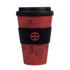 Marvel Deadpool 475ml Bamboo Travel Mug with Silicone Lid