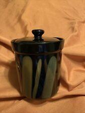 "Sango Avanti Black Canister Jar Container 6.25"" Tall (4721)"