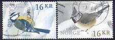 Norway - nice pair of 2015 used bird stamps #1757-58 $ 8.50 cv Lot # 922