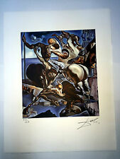 Salvador Dali Litografia 50 x 65 Bfk Rives Timbro a secco Firmata a Matita D031