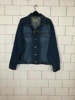 VINTAGE RETRO BIKER TRUCKER BLUE URBAN FESTIVAL DENIM JACKET MENS GB 40 #227