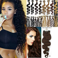 7A  Body Wavy&curly Loop Micro Rings Beads 100% Remy Human Hair Extensions