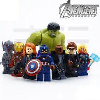THOR IRON MAN HULK NICK AVENGERS Age Of Ultron 8 Minifigures Building Brick LEGO