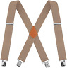 Calvertt Mens 2 Inch Wide Suspenders Heavy Duty Clip X-Back Braces for Work