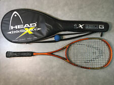 Head Intelligence Intellifiber i.X160 G Squash Racquet Racket, Case & Ball