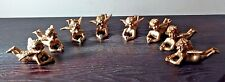 TWO's COMPANY Cold Cast Porcelain Cupid Angel Place Card Holders - SET OF 8