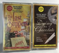 Culinary Mysteries: Dying For Chocolate and Last Suppers | 4 Audiobook Cassettes