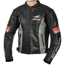 Mv Agusta Corse Schwarz Grau Motorrad Gepanzerte Ce Leder Bikerjacke