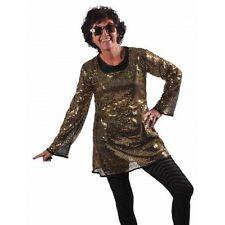 robe tunique paillettes dorées disco t 38/40 night fever deguisemen cabaret fete