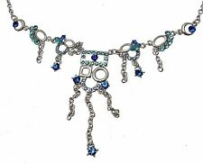 Blue Cubic Zirconia Blue Rhinestone Necklace Statement Necklaces For Women
