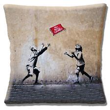 """Nouveau Banksy Graffiti Artiste """"pas de jeux de ballon"""" deux enfants 16 """"Oreiller Coussin Couverture"""