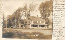 RPPC ELM HOUSE Gray, Maine 1905 Vintage Real Photo Postcard