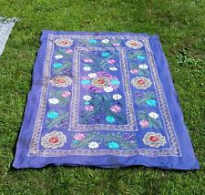 """Sewn Embroided Tapestry Wall Art Curtain Picnic Blanket Privacy Screen 75""""x48"""""""