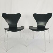 Mid-Century Genuine Fritz Hansen Series 7 Chair Pair Denmark 1971 Vintage