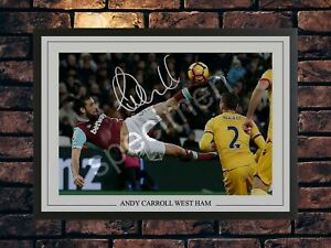 ANDY CARROLL WEST HAM SIGNED LIMITED EDITION MEMORABILIA A4 PHOTO PRINT