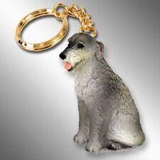 IRISH WOLFHOUND Dog Tiny One Resin Keychain Key Chain Ring