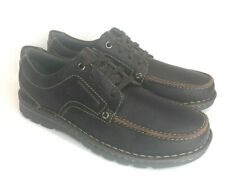 Clarks Vanek Apron Ortholite Casual Shoes Brown Oily 8.5M Comfort Oxford NEW