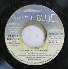 50'S & 60'S 45 Carole Bennett With Dick Hyman And The Band - Program #18 / Progr