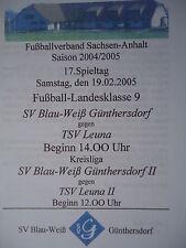 Programm 2004/05 Blau Weiß Günthersdorf - TSV Leuna