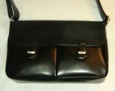 Longchamp Black Leather Handbag/Shoulder Bag