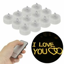 12 Pcs LED Flickering Lights Smokeless Tealights Candles Lights Remote Control