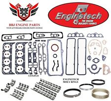 Chevy Chevrolet 305 5.0 1986-1995 Enginetech Rering Rebuild Kit With Moly Rings