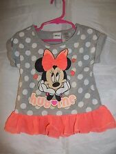 Disney Minnie Mouse Hug Me Toddler Girl's Polka Dots Tulle Dress Size 3T