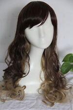 Perruques et toupets bruns bouclés pour femme