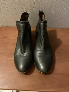 LUCKY BRAND Metallic Heeled Ankle Booties Gunmetal Grey Zipper Slip On SZ: 9M/39