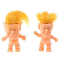 1Pc Cute Trump silicone troll doll creative simulation Trump doll ornamentsEO
