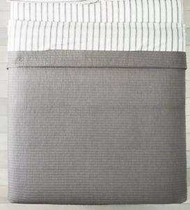 Hearth & Hand Magnolia TWIN Texture Stripe Quilt Sham Set Gray Cotton Nwot