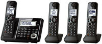 Panasonic 4 Handsets Telephone Digital Cordless Answering System KX-TGF344 - NEW