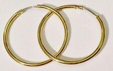 boucles d'oreilles percées bijou vintage anneaux base couleur or poli *3640